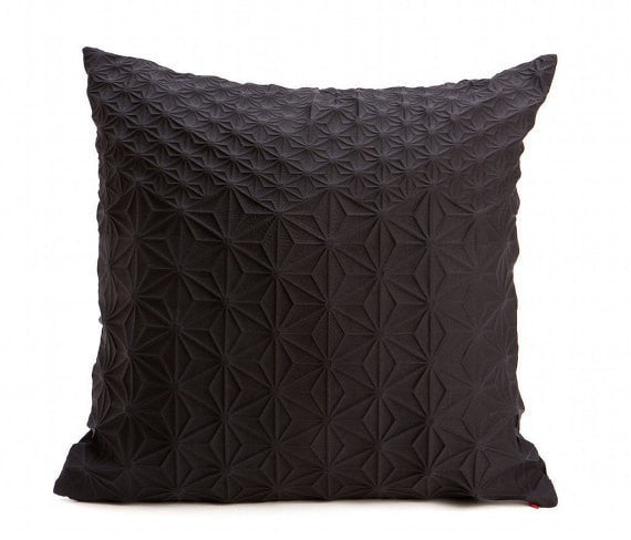 Amit pillow, Black geometric pillow cover 60x60 cm, 23.6 inch