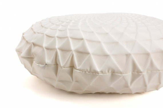 Noam Pillow, Cream round pillow cover 60x60 cm, 23.6 inch