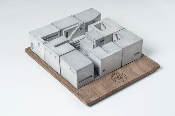 Miniature Concrete Homes (Set of Nine)