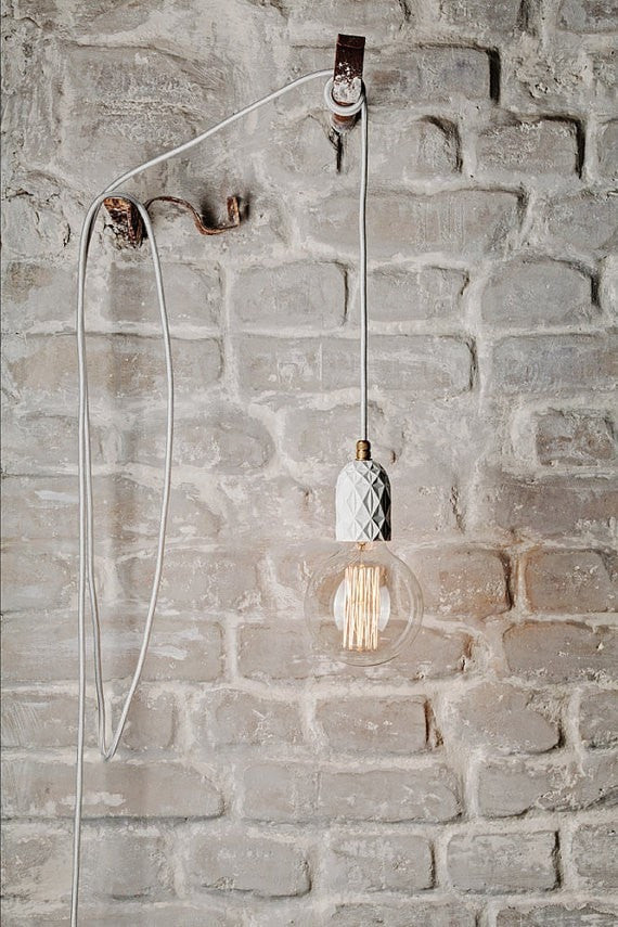 Concrete lamp | LATITUDE Beton Air White - Slab Homewares