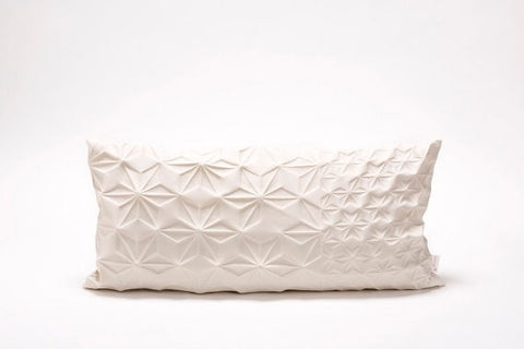 Amit pillow, Cream textured pillow cover 30x60 cm