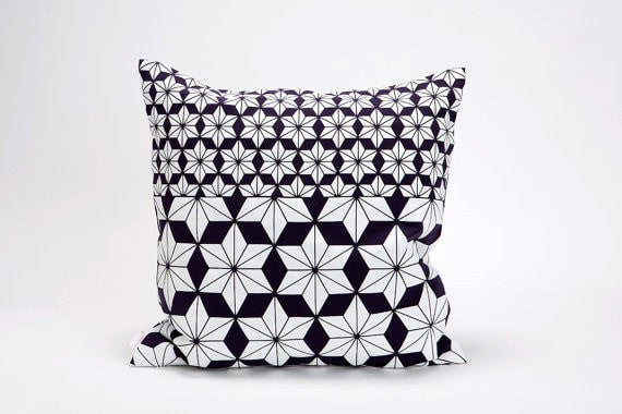 Ami pillow, Purple floral pillow cover, 50x50, 19.5X19.5""