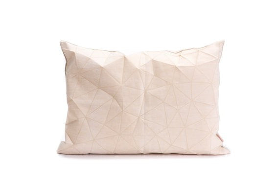 Irad pillow, White and Beige cover 55x40 cm