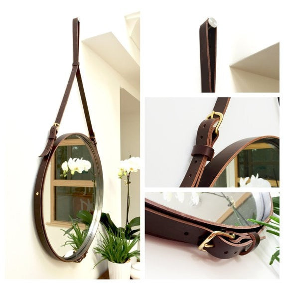 NOBILE TWO Strapped Mirror - Slab Homewares