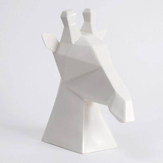 Gerard the Giraffe in White Ceramic,  Modern Ceramics - Slab Homewares