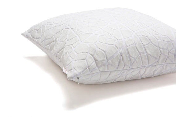 Vein pillow, White vein decorative pillow cover, 50X50 cm, 19.6X19.6 inch,