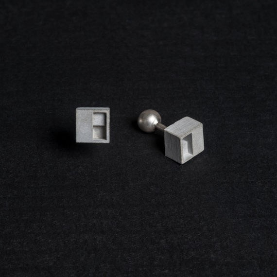 Micro Concrete Cuff Links #1 - ELEMENTS Collection