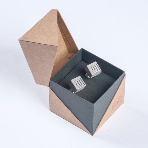 Micro Concrete Cuff Links #4 - ELEMENTS Collection