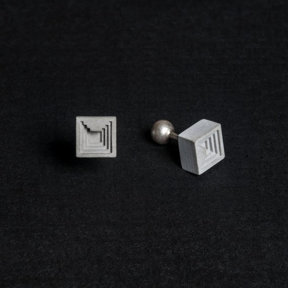Micro Concrete Cuff Links #6 - ELEMENTS Collection
