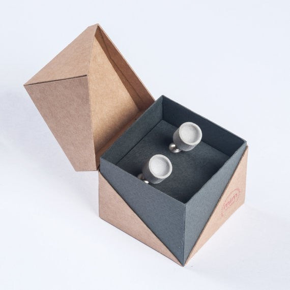 Micro Concrete Cuff Links #8 - ELEMENTS Collection