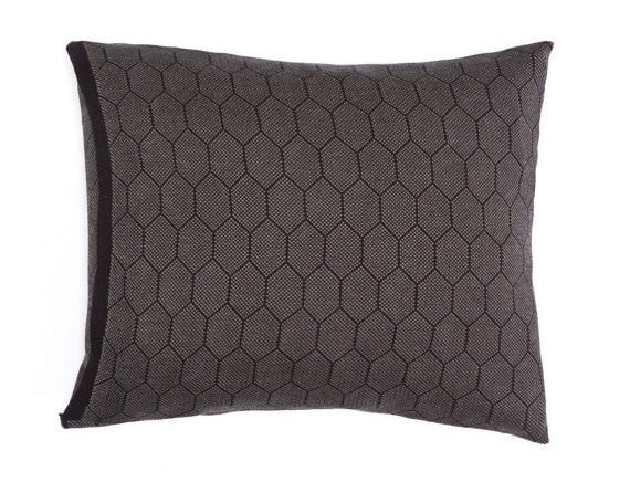 Hive cushion, Olive and black  55x45 cm/ 22x18""