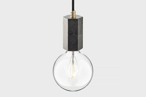 Marble pendant lamp | LATITUDE Trom black - Slab Homewares