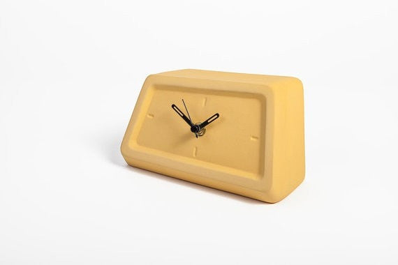 Modern clock, table Clock, Desk Clock, Ceramic Clock, Unique clock, modern minimalist, mantel clock, mantel decor, fireplace decor, clocks - Slab Homewares