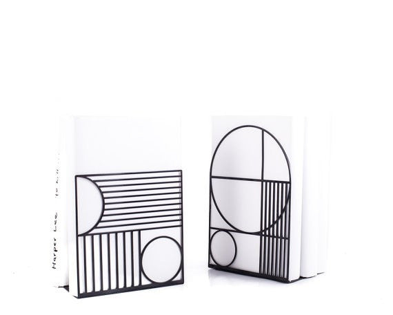 Metal Bookends Bauhaus