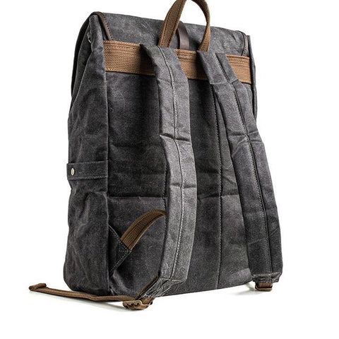 Bronx wax canvas backpack