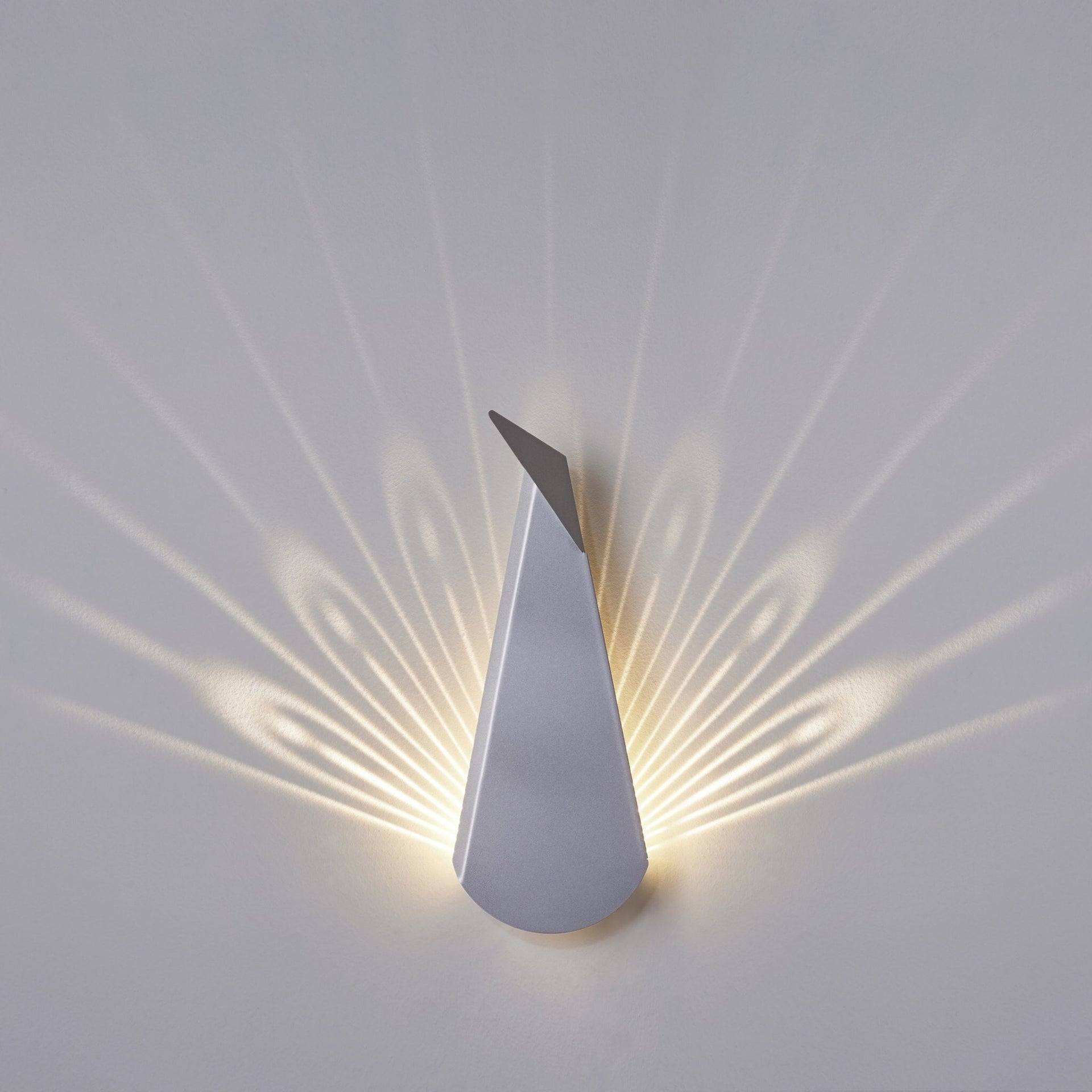 Peacock Aluminium LED Wall Light - Slab Homewares