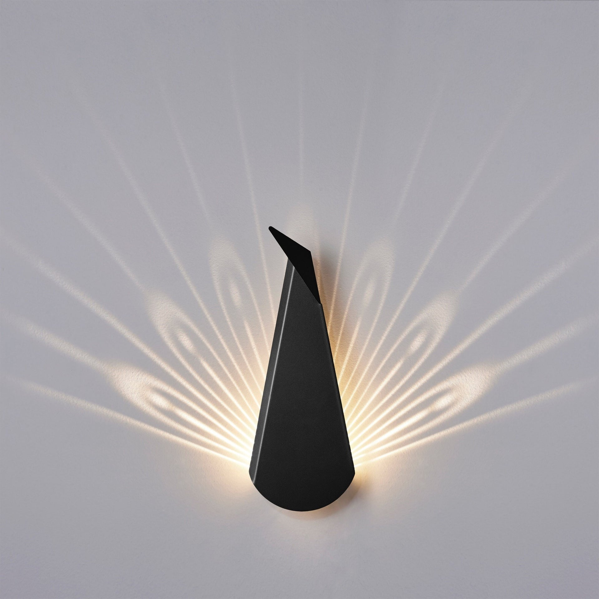 Peacock Black LED Wall Light - Slab Homewares