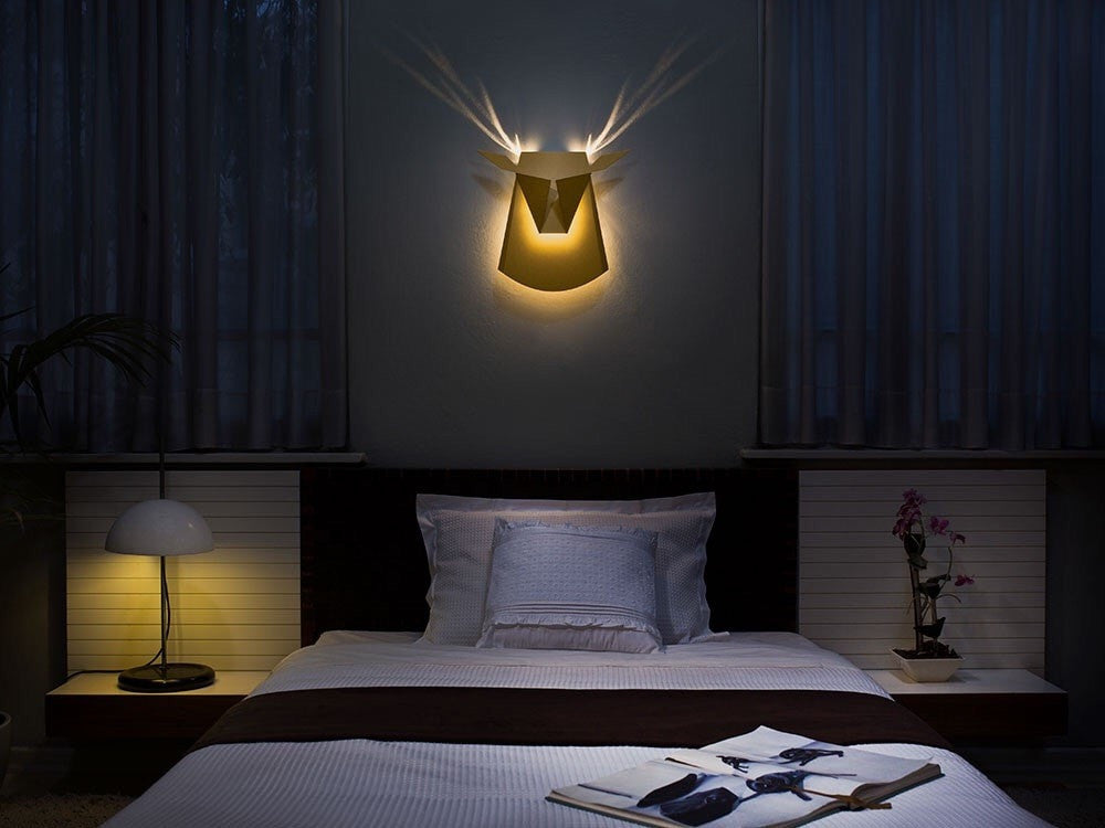 Deer Light Black LED Wall Light - Slab Homewares