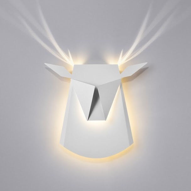 Deer Head LED White Wall Light - Slab Homewares