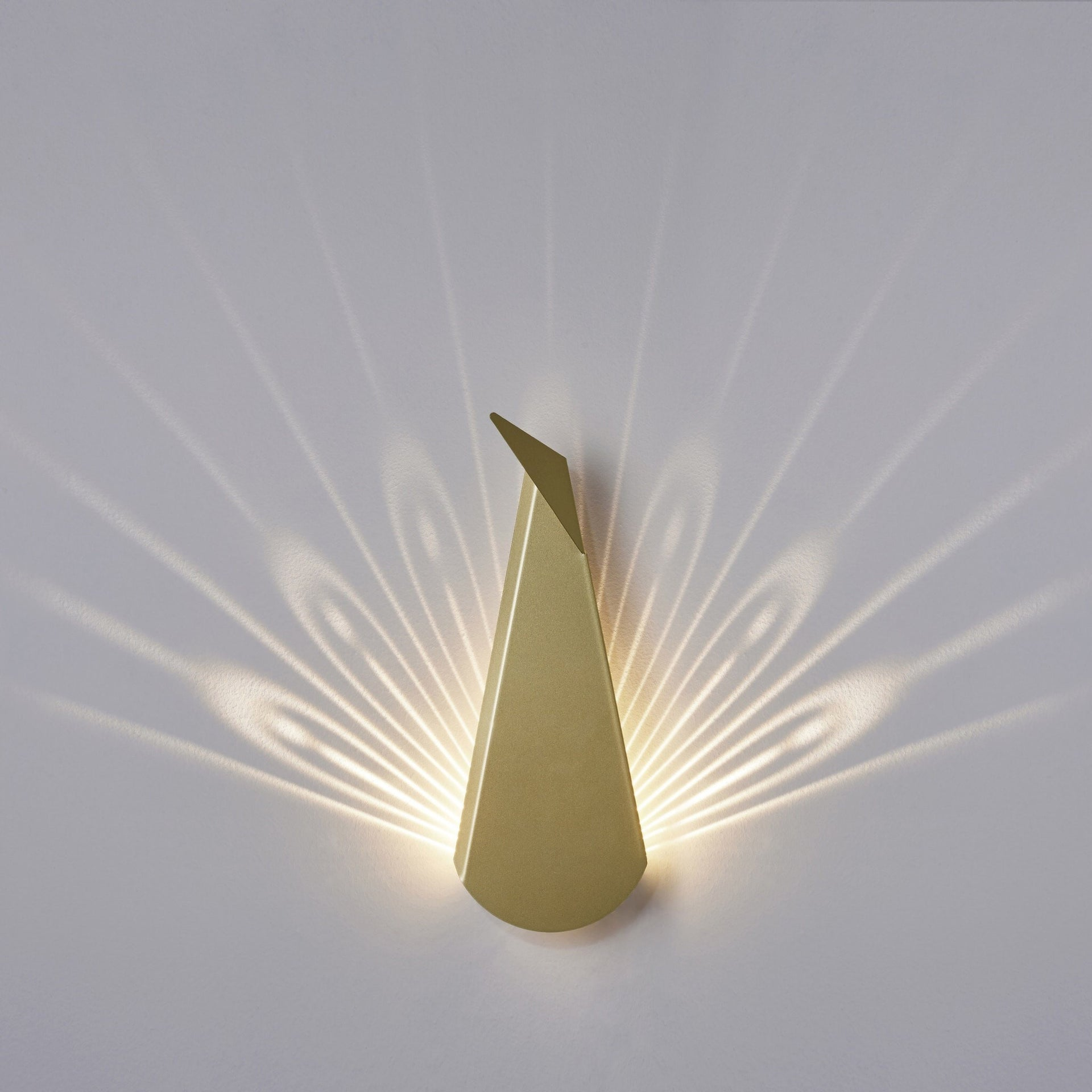 Peacock Gold LED Wall Light - Slab Homewares