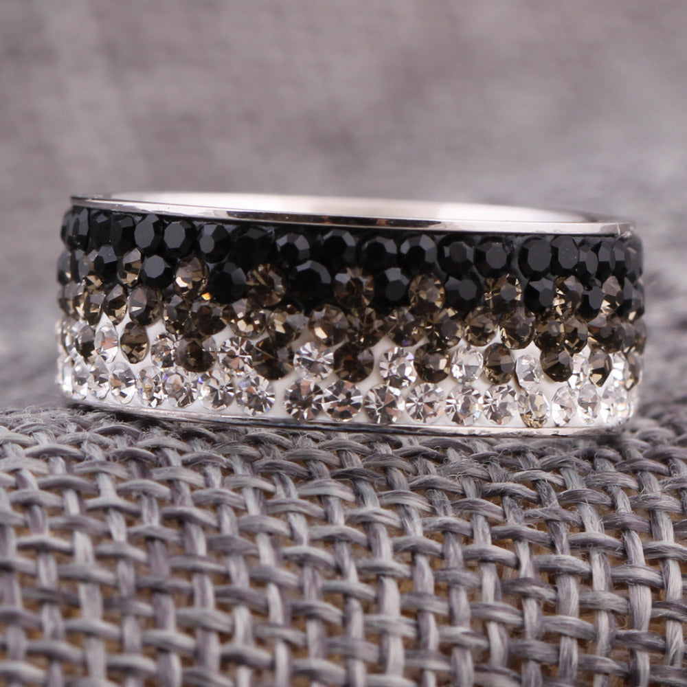 Crystal Stainless Steel Rings