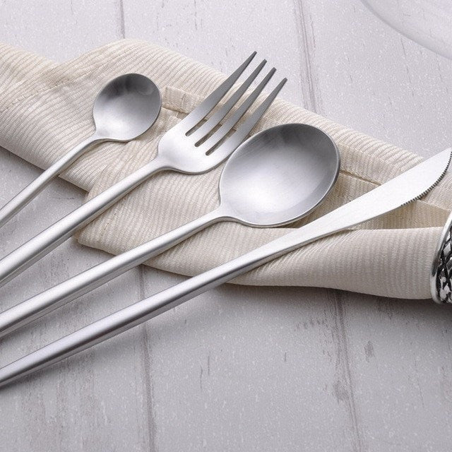 European Black Stainless Steel Flatware - Slab Homewares