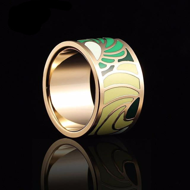Spring Breeze Enamel Ring