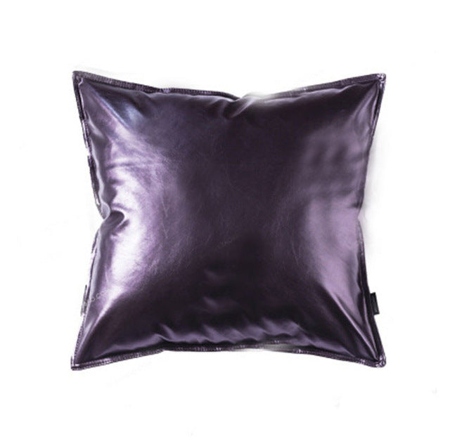 Soft Metallic Cushion Cover