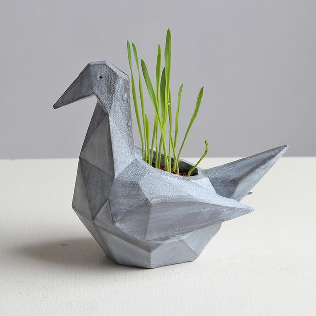 Origami Concrete Animals Planter - Slab Homewares