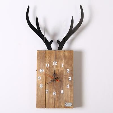 Living Room Nordic Style Wooden Decor Hanging Wall Clocks - Slab Homewares