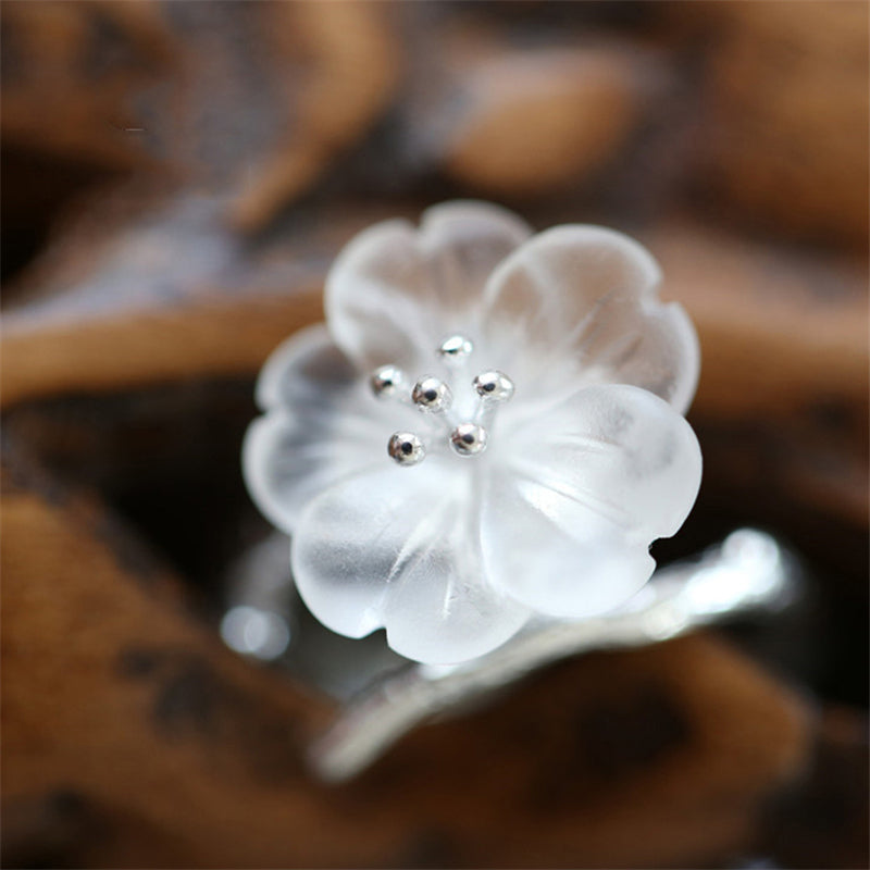 Flower Rain Ring Open Ring