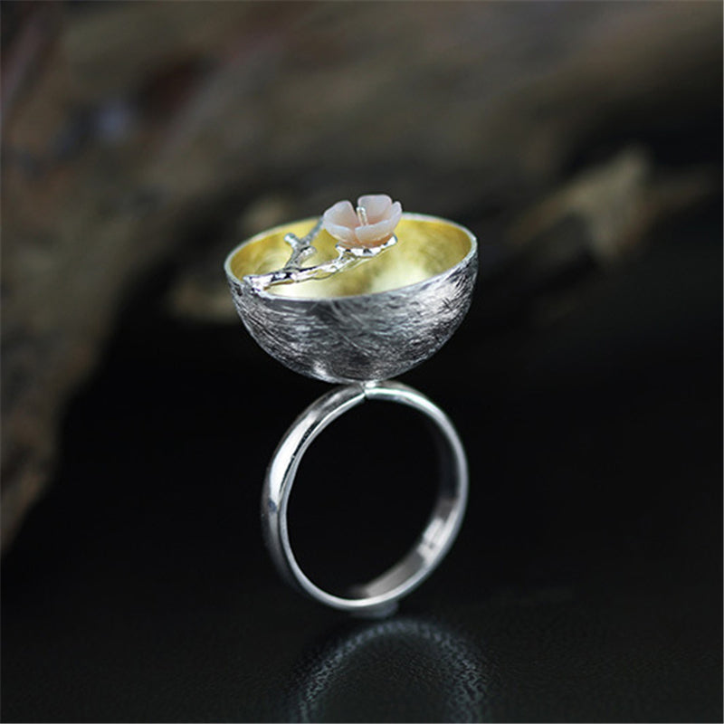 Lotus in the Pond 925 Sterling Silver