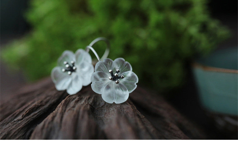 Lotus Silver Earrings