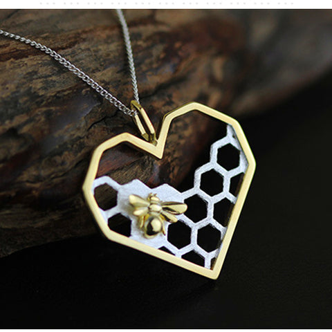 Honeycomb and the Bee Necklace