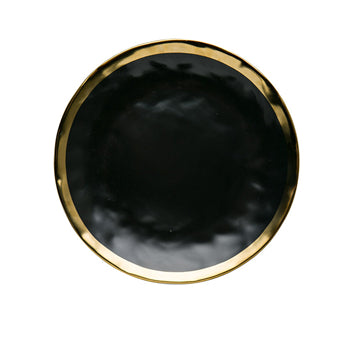 European ceramic gold inlay dish