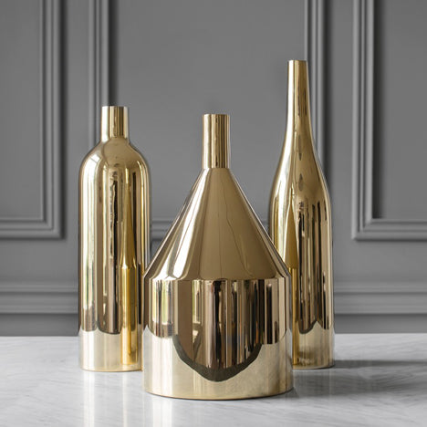 Luxury Morden Gold-plated Ceramic Vase