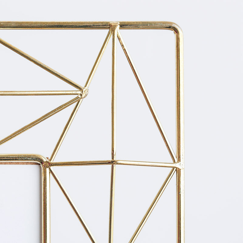 Geometric Metal Photo Frame