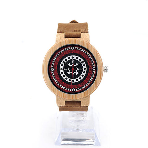 AZTEC Bamboo Wood Watch for Women