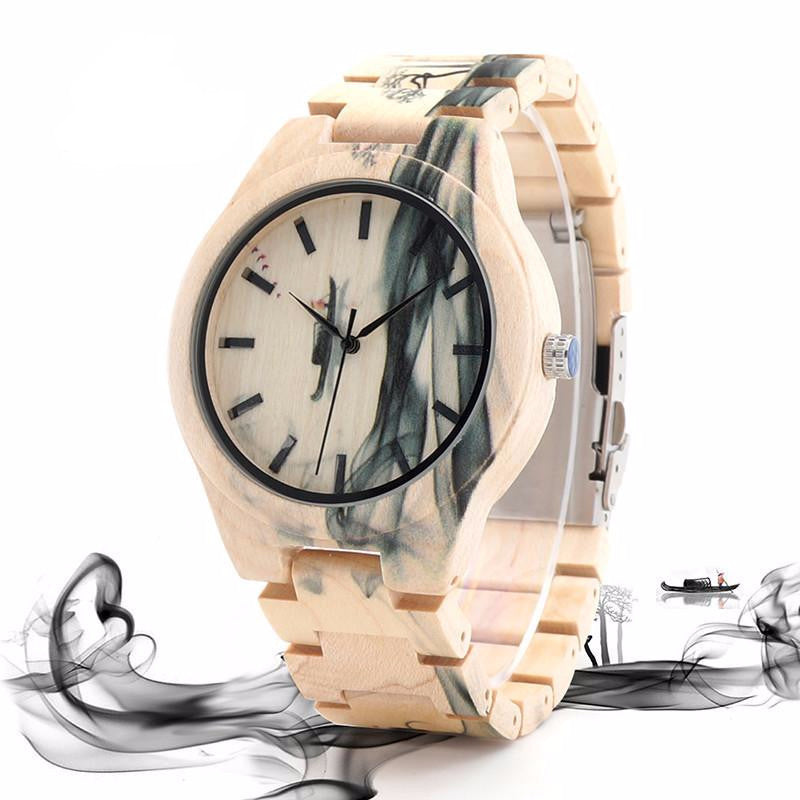 Smoke Maple Wood Watch
