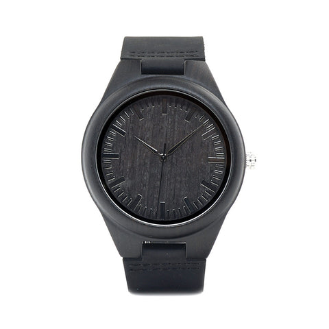 Alexander Mens Luxury Black Wooden Watches