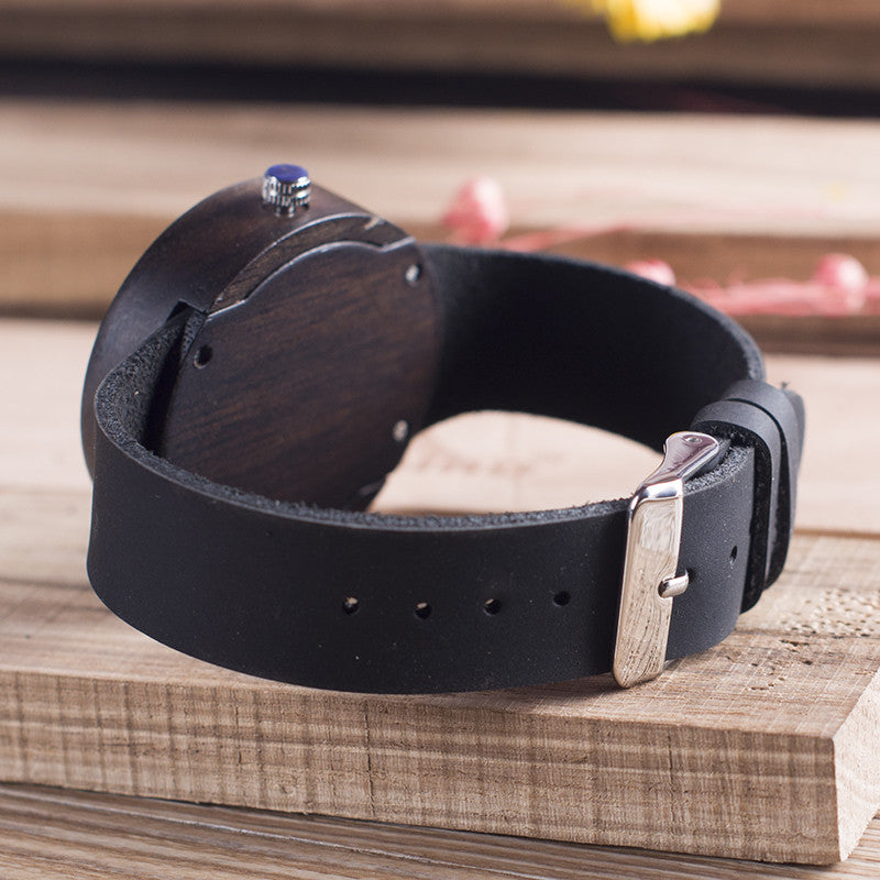 Luxe Ebony Wooden Watch