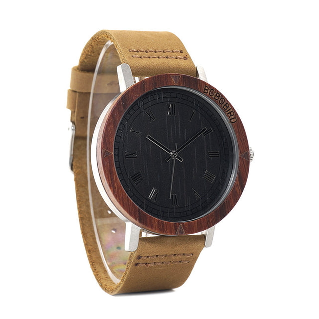 Dudley Red Sandalwood & Steel Watch