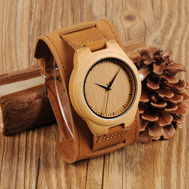 Bob Mens Bamboo Wood Watch