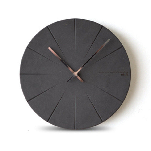 Modern Minimalist Pine Wood Wall Clock
