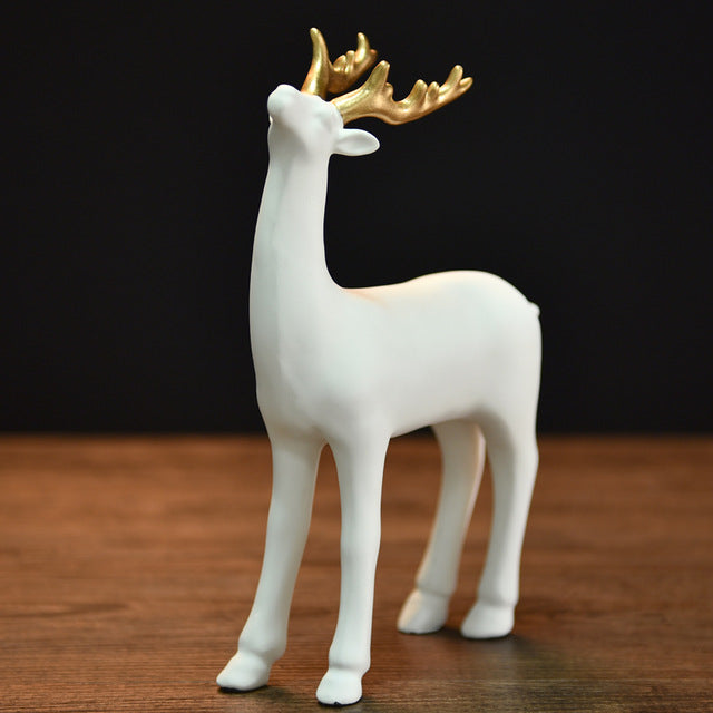 Resin Deer Figurine Fawn Statue
