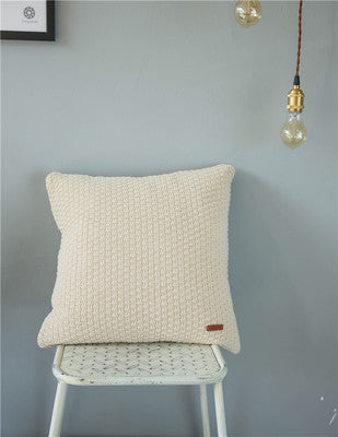 European Modern Cotton Knitting Warm Soft Pillow Cover