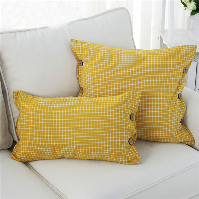 Button Cushion Cover