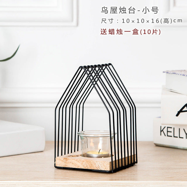 Europe Bird House Candle Holder