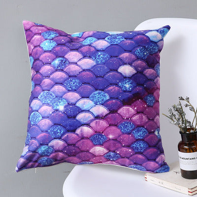 Mermaid Fish Shiny Scales Soft Pillow Case