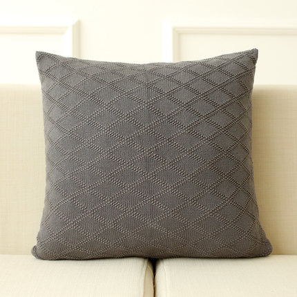 Cotton Knitted Cushion Cover